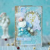Открытки ручной работы. Ярмарка Мастеров - ручная работа Детская открытка в шебби стиле. Handmade.