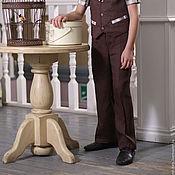 Одежда ручной работы. Ярмарка Мастеров - ручная работа Брюки  для мальчика коричневые. Handmade.
