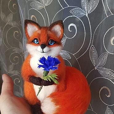 Куклы и игрушки ручной работы. Ярмарка Мастеров - ручная работа Лисичка из войлока. Handmade.