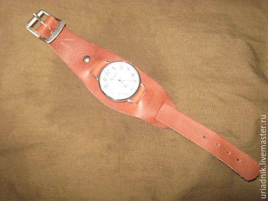 Часы ручной работы. Ярмарка Мастеров - ручная работа. Купить Кожаный ремешок для часов. Handmade. Коричневый, ремешок на часы