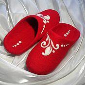 Обувь ручной работы. Ярмарка Мастеров - ручная работа Изюминка. Валяные тапочки.. Handmade.