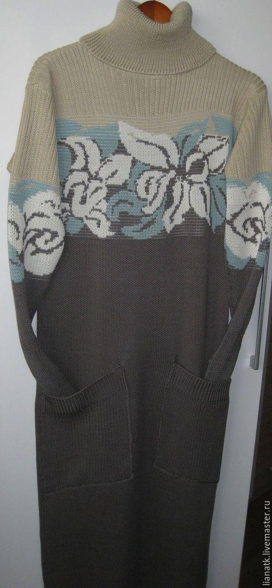 Платья ручной работы. Ярмарка Мастеров - ручная работа. Купить Платье Орхидеи. Handmade. Темно-серый, Платье нарядное