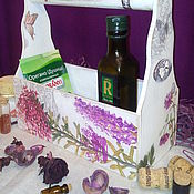 Для дома и интерьера ручной работы. Ярмарка Мастеров - ручная работа короб для специй (подставка для цветов). Handmade.