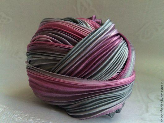 Для украшений ручной работы. Ярмарка Мастеров - ручная работа. Купить №47 Июльский закат  Ленты Шибори Silk Ribbons Shibori. Handmade.