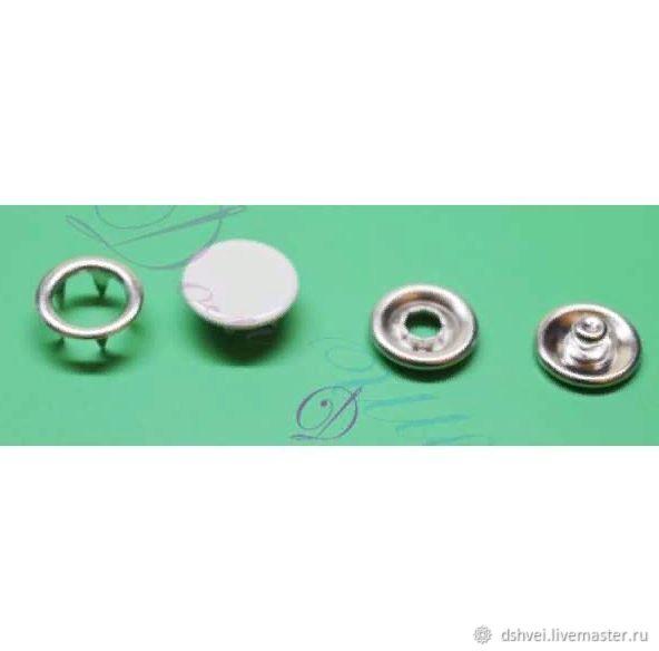 Кнопка с крышкой  9,5 мм рубашечная цв. Серый 523, Инструменты, Москва,  Фото №1