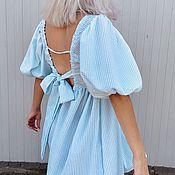 Одежда handmade. Livemaster - original item Dresses: dress made of cotton-harvester