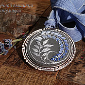 Украшения handmade. Livemaster - original item Embroidered pendant Give Yon. Handmade.
