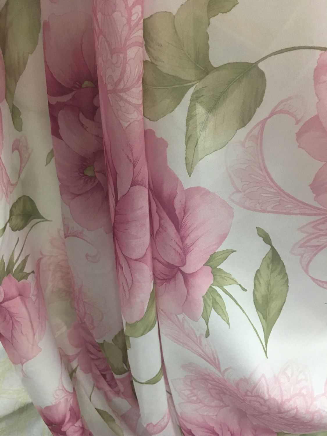 Curtains Batiste 'Pink peonies' with weighting, Curtains, Mozhaisk,  Фото №1
