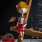 """Куклы и игрушки ручной работы. Ярмарка Мастеров - ручная работа Миниатюрная коллекционная кукла """"Кот-щеголь"""". Handmade."""
