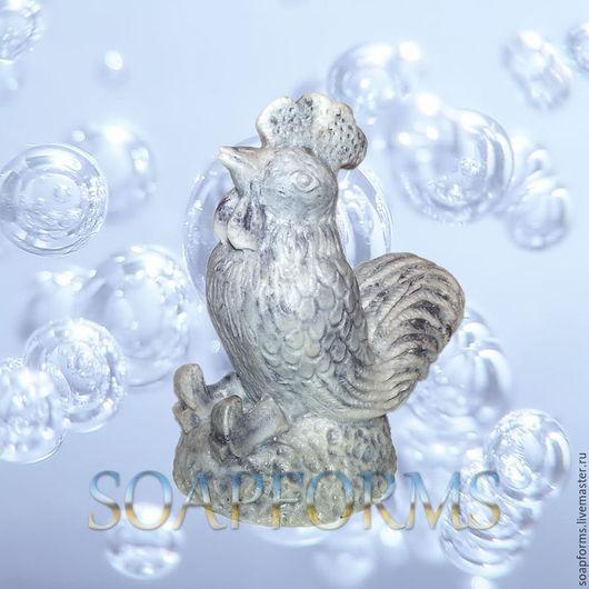 Силиконовая форма для мыла `Петух 3` 3D Купить силиконовую форму `Петух 3` 3D