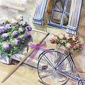 Картины и панно ручной работы. Ярмарка Мастеров - ручная работа Картина, акварель, городской пейзаж, прованс. Handmade.