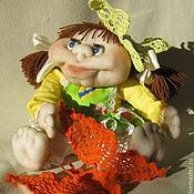 Куклы и игрушки ручной работы. Ярмарка Мастеров - ручная работа Авторская чулочная кукла Настенька. Handmade.