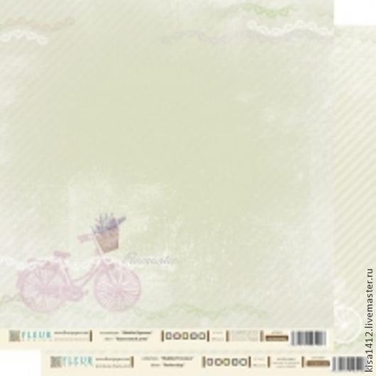 Артикул 1000402  Лист бумаги для скрапбукинга `Идеальный День` , коллекция `Шебби Прованс`, 30 на 30 плотность 190 гр / 10 листов в упаковке