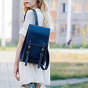 Сумки и аксессуары handmade. Livemaster - original item Backpack women`s leather - DODECAHEDRON. Handmade.