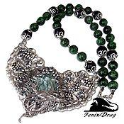 handmade. Livemaster - original item Necklace (choker) clinochlore and diopside dragon. Handmade.