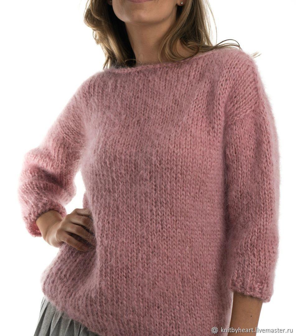 это вязание пуловер из мохера фото учётом