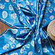 """Шали, палантины ручной работы. Ярмарка Мастеров - ручная работа. Купить Платок """"Совушки"""". Handmade. Совы, синий"""
