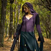 Субкультуры handmade. Livemaster - original item Elven Dress «Nelphie» Long Fantasy Linen Hooded Elvish Dress. Handmade.