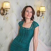 Одежда handmade. Livemaster - original item Malachite geometry Dress. Handmade.