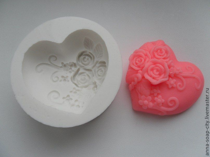 Silicone mold for soap and candles ' Heart', Form, Arkhangelsk,  Фото №1