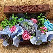 Цветы и флористика ручной работы. Ярмарка Мастеров - ручная работа Цветы в коробке. Handmade.