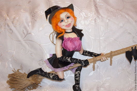 Сказочные персонажи ручной работы. Ярмарка Мастеров - ручная работа. Купить Ведьмочка. Handmade. Разноцветный, ведьма, кукла из капрона