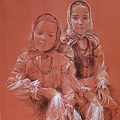 """Картины и панно ручной работы. Ярмарка Мастеров - ручная работа """"Артистки"""". Handmade."""