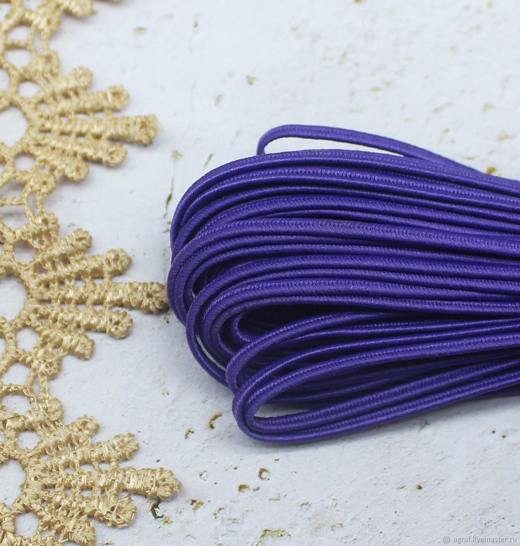 Сутаж белорусский 2,5 мм Фиолетовый 1 метр, Шнуры, Соликамск,  Фото №1