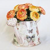 Цветы и флористика ручной работы. Ярмарка Мастеров - ручная работа Цветы в лейке. Handmade.