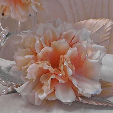 Свадебный салон ручной работы. Ярмарка Мастеров - ручная работа Украшения: заколка - брошь из шелка Рододендрон. Handmade.