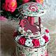 """Персональные подарки ручной работы. Ярмарка Мастеров - ручная работа. Купить Шкатулка шебби """"Цветочная карусель"""". Handmade. Розовый"""