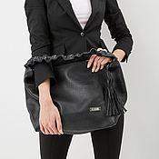 Сумки и аксессуары handmade. Livemaster - original item Bag - hobo - shopper with inner pocket and tassel. Handmade.