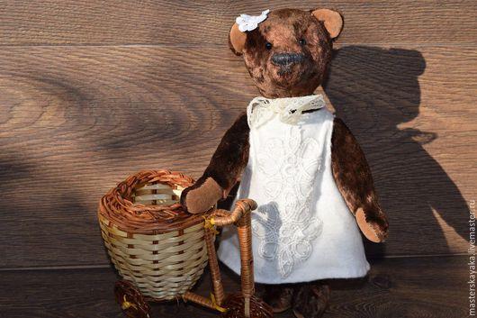 Мишки Тедди ручной работы. Ярмарка Мастеров - ручная работа. Купить Мишутка Ромашка. Handmade. Коричневый, плюш винтажный
