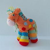 Куклы и игрушки ручной работы. Ярмарка Мастеров - ручная работа Пони радужный. Handmade.