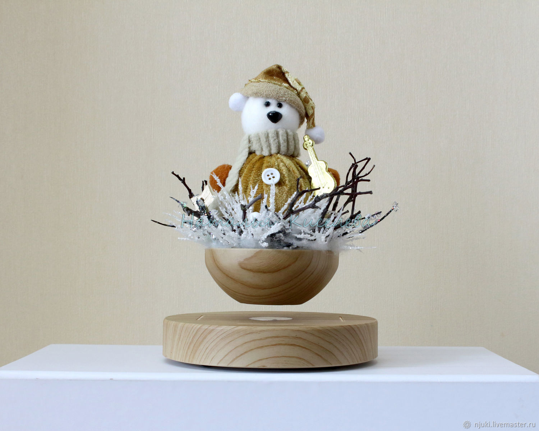 Новогодняя левитирующая композиция с мишкой, Год Крысы, Голицыно,  Фото №1