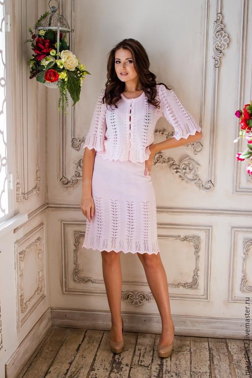 """Костюмы ручной работы. Ярмарка Мастеров - ручная работа. Купить Костюм """"Zefir"""". Handmade. Бледно-розовый, ажурное платье"""
