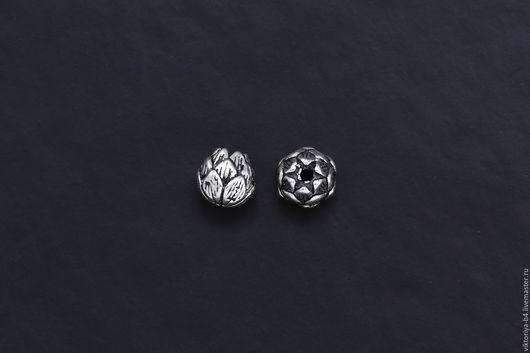 Для украшений ручной работы. Ярмарка Мастеров - ручная работа. Купить Бусина серебро 925 цветок. Handmade. Серебряный