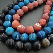Материалы для творчества handmade. Livemaster - original item Agate natural toned large beads beads, 16mm. Handmade.