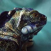 Статуэтки ручной работы. Ярмарка Мастеров - ручная работа игуана бирюзовая. Handmade.