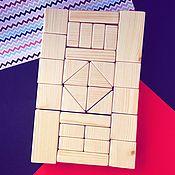 Конструктор деревянный, 30 деталей
