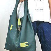 Сумки и аксессуары ручной работы. Ярмарка Мастеров - ручная работа Сумка мешок, изумрудный зеленый цвет. Handmade.