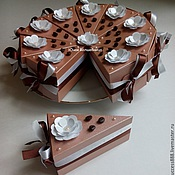 Сувениры и подарки ручной работы. Ярмарка Мастеров - ручная работа Кусочек торта - подарочная упаковка в форме торта. Handmade.