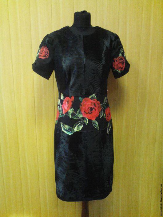 Платья ручной работы. Ярмарка Мастеров - ручная работа. Купить Платье из кашемира и каракульчи. Handmade. Черный, Коктейльное платье