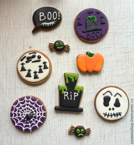 Кулинарные сувениры ручной работы. Ярмарка Мастеров - ручная работа. Купить Halloween. Handmade. Разноцветный, пряники на заказ