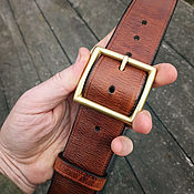 Аксессуары handmade. Livemaster - original item Strap leather, mod. Lend Lease Vintage 45. Handmade.
