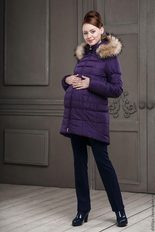 Верхняя одежда ручной работы. Ярмарка Мастеров - ручная работа. Купить Куртка Бони в фиолетовом цвете. Handmade. Фиолетовый