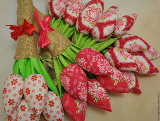 Куклы Тильды ручной работы. Ярмарка Мастеров - ручная работа. Купить Тюльпаны Тильда. Handmade. Ярко-красный, 8 марта