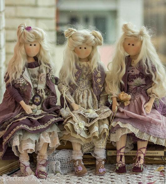 Куклы Тильды ручной работы. Ярмарка Мастеров - ручная работа. Купить куколки. Handmade. Сиреневый, кукла интерьерная, подарок девушке
