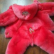Одежда для питомцев ручной работы. Ярмарка Мастеров - ручная работа Комбинезон из кролика Рекс для маленьких собачек. Handmade.