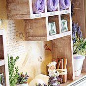 Для дома и интерьера handmade. Livemaster - original item Shelf on the wall wooden with Provence Paint filling. Handmade.